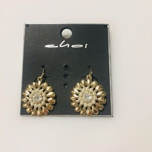 Jewelry - gold sunflower stud earrings